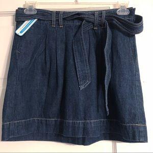 Old Navy NWT Ultra Blue Belted Denim Skirt Size 4